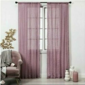 4 sheer curtain panel color rose